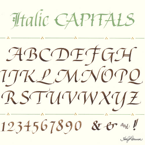 Italic Lettering with Holly Monroe