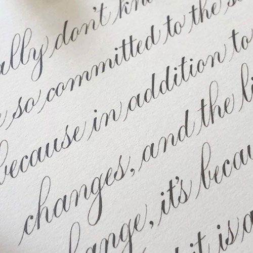 Basic Copperplate with Suzanne Cunningham